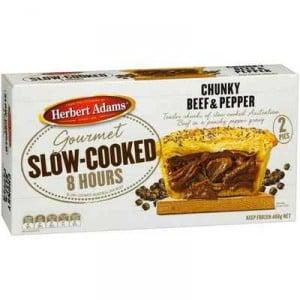 Herbert Adams Pies Slow Cooked Beef & Pepper