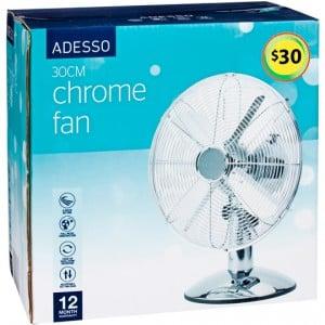 Adesso Fan Chrome Desk 30cm