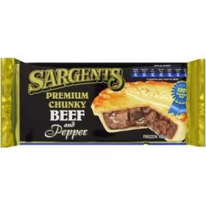 Sargents Pies Chunky Beef & Pepper