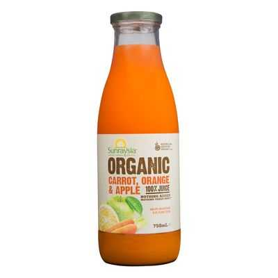 Sunraysia Organic Carrot Orange & Apple Juice