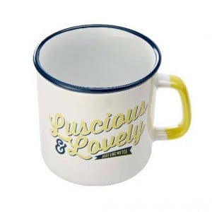 Jamie Oliver Slogan Mug Blue & Yellow