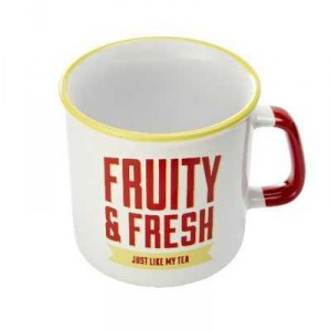 Jamie Oliver Drinkware Slogan Mug Yellow & Red