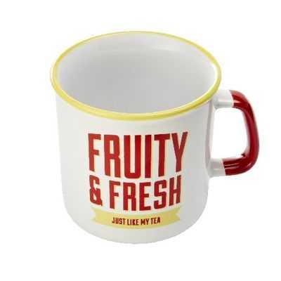 Jamie Oliver Drinkware Slogan Mug Yellow & Red