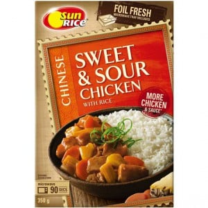 Sunrice Chinese Sweet & Sour Chicken With Rice