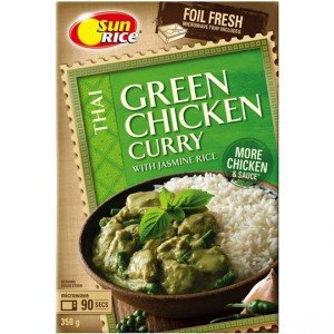 Sunrice Thai Green Chicken Curry With Jasmine Rice