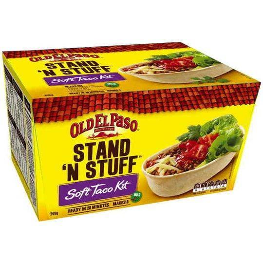 Old El Paso Ingredients Stand 'n Stuff Soft Taco Kit