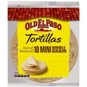 Old El Paso Tortillas Mini Wholegrain