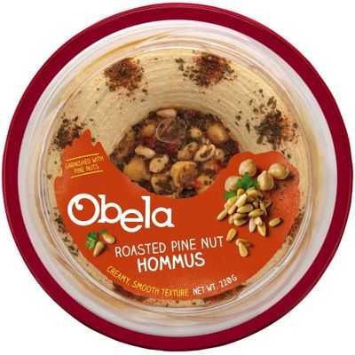 Obela Hommus Garnished With Roasted Pinenut