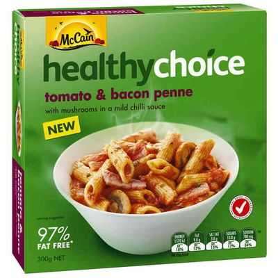 Mccain Healthy Choice Penne Tomato Bacon