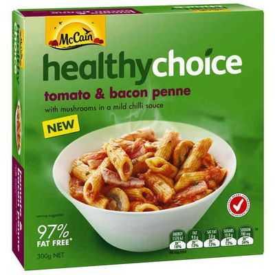 Mccain Healthy Choice Penne Tomato Bacon