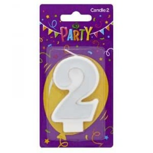 Party Candle Metallics Number 2