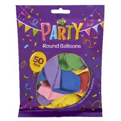 Party Balloons Assorted Sizes