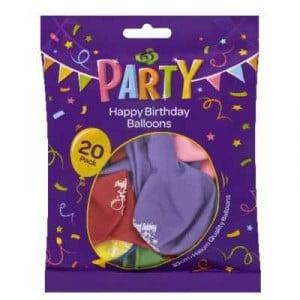 Party Balloons Happy Birthday