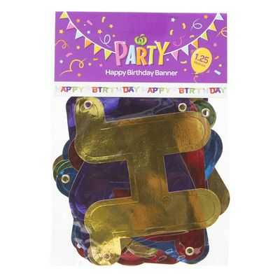 Party Banner Happy Birthday Shapecut