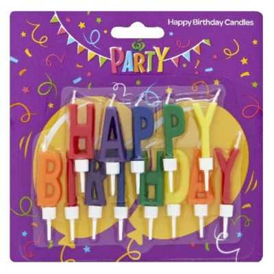 Party Candle Happy Birthday With Holder
