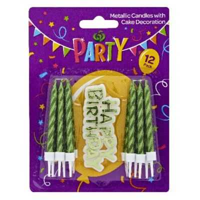 Party Candle Metallic