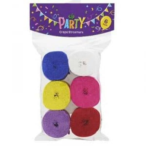 Party Decoration Streamers Solid