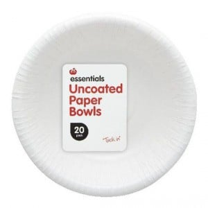 Essentials Paper Bowls Uncoated