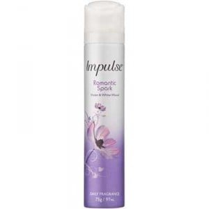 Impulse Body Spray Aerosol Deodorant Romantic Spark Perfume