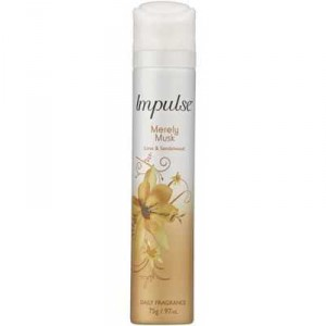 Impulse Body Spray Aerosol Deodorant Merely Musk Perfume