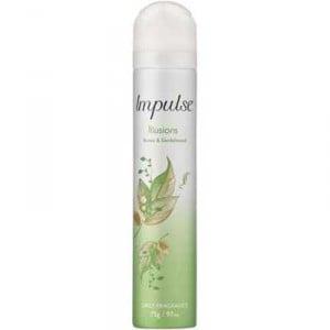 Impulse Body Spray Aerosol Deodorant Illusions Perfume