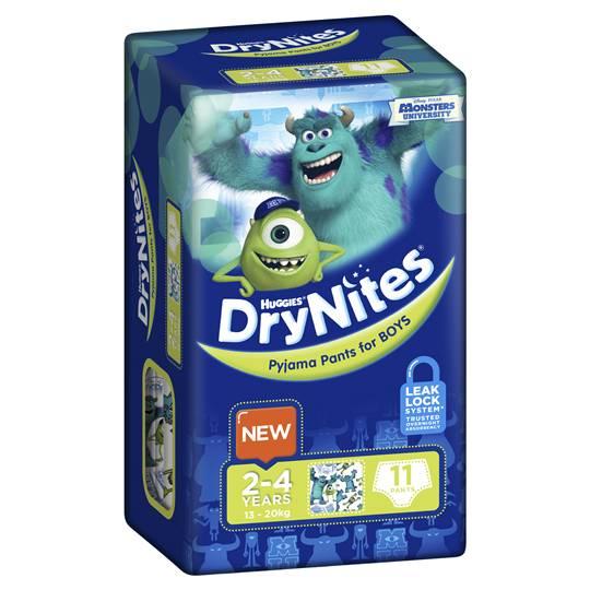 Huggies Drynites Pyjama Pants Boy 2-4 Yrs
