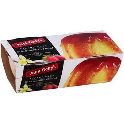Aunt Bettys Strawberry Vanilla Pudding