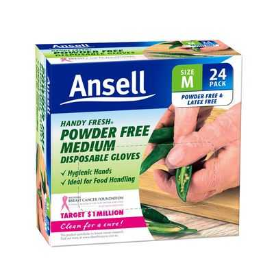 Ansell Gloves Powder Free Disposable Medium