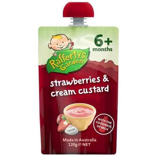 Rafferty's Garden Food 6 Months Strawberries & Cream Custard