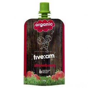 Five:am Organic Strawberry Yoghurt