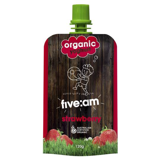 Five:am Organic Strawberry Yoghurt