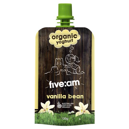 Five:am Organic Vanilla Bean Yoghurt
