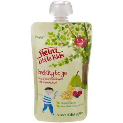 Heinz Little Kids 1-3 Years Berry Pear Muesli With Yoghurt