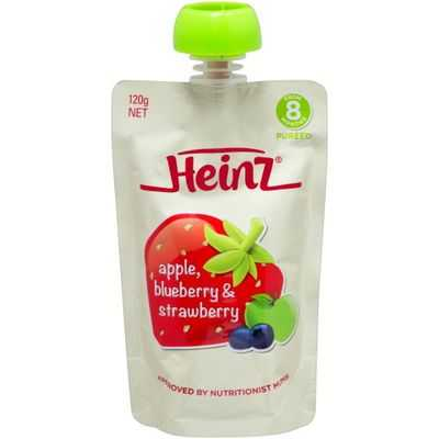 Heinz 8 Months+ Apple, Blueberry & Strawberry