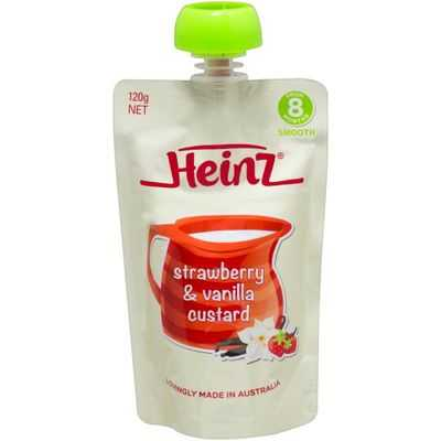 Heinz 8 Months+ Strawberry & Vanilla Custard