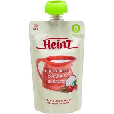 Heinz 8 Months+ Choc Cherry Coconut Custard