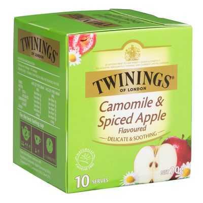 Twinings Spiced Apple Infused Chamomile Tea Bags
