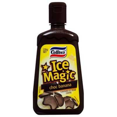 Cottees Chocolate Banana Ice Magic