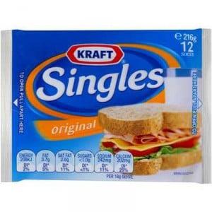 Kraft Cheese Slices Singles Original