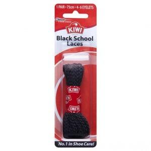 Kiwi Shoe Care Laces Black 75cm