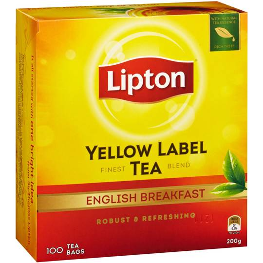 Lipton Yellow Label Tea Bags English Breakfast