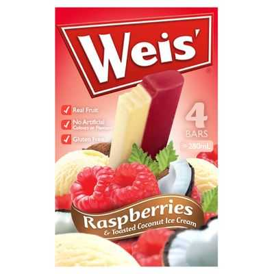 Weis Ice Cream Raspberry Toasted Coconut