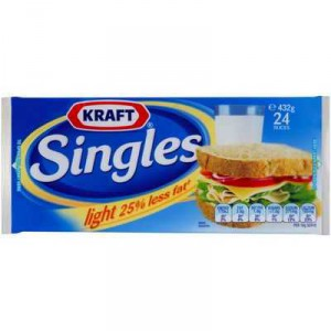 Kraft Cheese Slices Singles Light 25% Less Fat