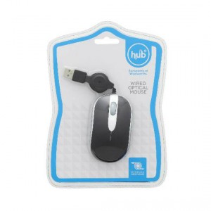 Hub It Wired Optical Mouse Wired Optical