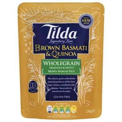 Tilda Heat & Serve Brown Basmati & Quinoa