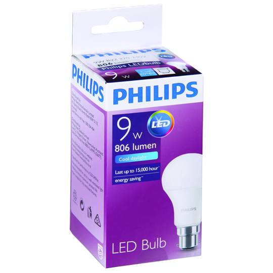 Philips Led Globe Cool Daylight 806 Lumen Bc Base