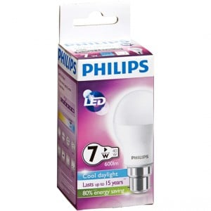 Philips Led Globe Cool Daylight 600 Lumen Bc Base
