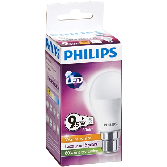Philips Led Globe Warm White 806 Lumen Bc Base