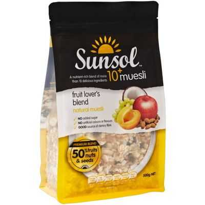 Sunsol Fruit Lovers Blend 10+ Muesli