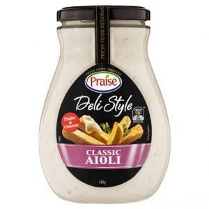 Praise Dressing Deli Style Aioli Classic